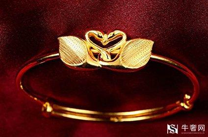 黄金回收金手镯圆的好还是扁的好