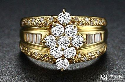 黄金带钻戒指可不可以回收重点得看它