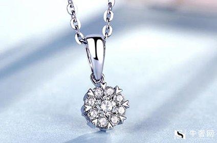 闲置在家的白金钻石项链回收有多少钱