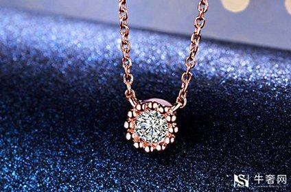 二手彩金项链带钻回收价格有多少