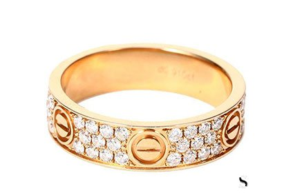 卡地亚750金属材质戒指回收价格几折