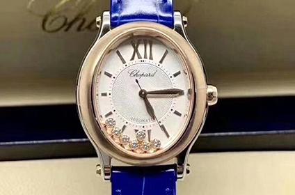 二手萧邦快乐运动系列女士手表几折回收