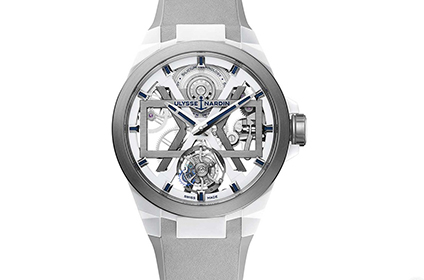 雅典陶瓷白色镂空陀飞轮手表回收几折